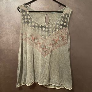 Maurices grey tank top size large